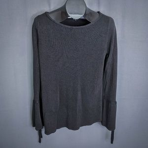 Roz & Ali Womens Sweater Large Black Pullover